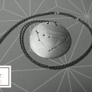 COLLANA - ALLUMINIO -COSTELLAZIONE -CAPRICORNO 2