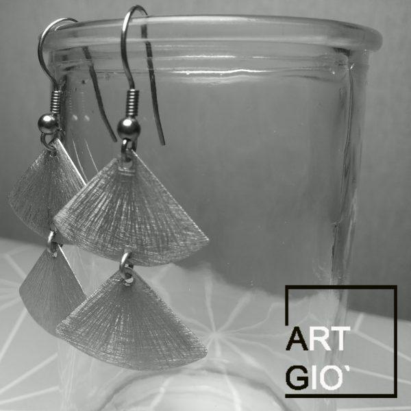 ventagli diritti - orecchini - alluminio 1