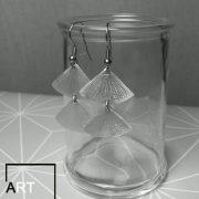 ventagli diritti - orecchini - alluminio 2