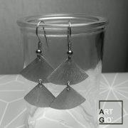 ventagli diritti - orecchini - alluminio 3